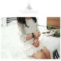 Cheap car Free Shipping 2014 New Fashion Korean Children Clothing Beautiful White Girls Lace Dress 5pcs lot clothing hanger