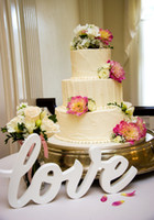 Wholesale Love Sign Freestanding Wedding Table Sign in Calligraphy Inches Tall Candy Bar Sign and Other Table Decor