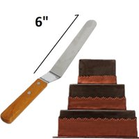 Wholesale New cm Cake Icing Spatula Decorating Supplies Smooth Filling Flat Scraper Blade Angled Tool