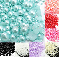 Wholesale Mixed mm Craft ABS Resin Flatback Half Round Pearls Flatback Cabochon Beads Jewelry DIY Decoration