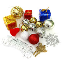 balls boxes including - Merry Christmas Decoration Big Gift Set Tree Ornament Xmas Pendant Hanging Bell Doll Including Ball Box Package