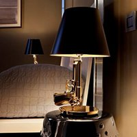 bedroom paint designs - Modern Flos Lounge Gun AK47 Chrome Gold Gun Starck Design Philippe Bedroom Table Lamps Desk Light Read Night Light Super Light
