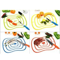 Wholesale Portable Plastic Chopping Block Non slip Frosted Antibacteria Cutting Board Vegetable Meat Home Living Essential