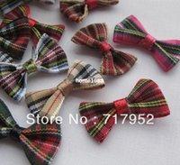 tartan plaid ribbon - 300 tartan plaid Gingham Ribbon Bows Flower Appliques A0157