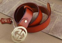 Wholesale GOLD G overlap men boy First layer skin real Original leather belt casual business party luxury high quality