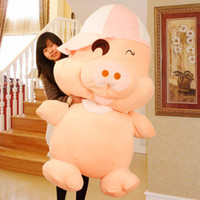 Wholesale New Arrival Midealtex Mcdull cm Large Pig Stuffed Animals Plush Toys Cute Dolls Lovers Birthday Gifts Valentine Day