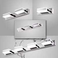 led bathroom mirror - 85V V heads W LED Mirror Light Modern LED Acrylic Bathroom Wall Lamp Bright Mirror Front Wall light Washroom Wall Lamp