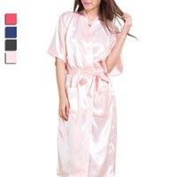 Wholesale New Arrival Women Bathrobe Fashion Solid Sleepwear Kimono Robe Summer Ladies Homewear Female Sexy Robe JB0111 Kevinstyle