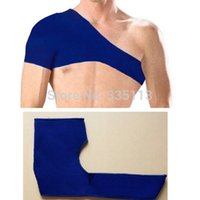 Wholesale 1pc Professional New Fashion Blue Single Shoulder Pad Brace Support Elastics Sport Basketball Sport Bandage Protector