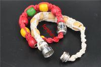 bead wholesalers canada - 6pcs to USA Canada wrist bracelet Smoking pipes metal bead smoking pipe for sneak a toke wooden Jamaica Rasta smoking gift