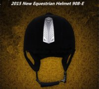 horse harness - Freeshipping German Equestrian Helmets Riding Horse Hat Helmet Harness Suede equestrian helmets Equestrian CE Certification E F
