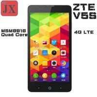 Wholesale 2015 Original ZTE V5S Dual G FDD LTE WCDMA Original Phone MSM8916 Quad Core Android phone quot HD x720 GB GB