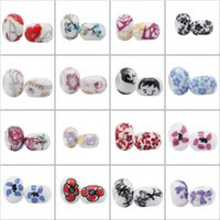 Wholesale Ceramics Loose Beads Charming Jewelry Accessories For Bracelets Handcraft DIY Style QCK
