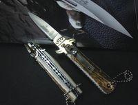 antler handle bowie knife - Excellent quality Hubertus Solingen AKC knife cm balde classic knife D2 HRC blade antlers handle bowie knife tactical knives B186M