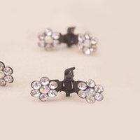 Wholesale Charming Sweet Exquisite Rhinestone Plum Flower Hair caught Gripper Hair accessories Claw Clip Wedding Prom