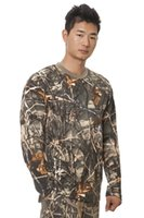 camo clothing - OlympinA Hunting Real Camo Long Sleeve T Shirt Cotton Men Clothing Outdoor Camouflage