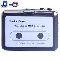 Wholesale New fashion Portable USB Cassette Player Capture Cassette Recorder Converter Tape to MP3 Auto Reverse Stereo Hi Fi Mega Bass