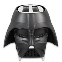 Wholesale STAR WARS Toaster Darth Vader Toaster Bread Maker Star Wars Darth Vader Helmet Shape Toaster Cool Toaster Similar to Big Bang Family Toaster