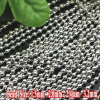 base metal chains - Min Order meter Rhodium Silver Plated Iron Metal Based mm Ball Chains Parts for DIY Jewelry Making