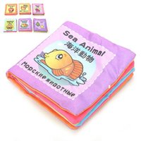 Wholesale 8 Pages Baby Toy Infant Sun Cloth Book Toys Musical Doll Toy Learning Education For Y Early Development Books Kids Gifts