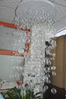 Wholesale Installed Item CE UL Mouth Blown Chihuly Borosilicate Murano Glass Craft Clear Glass Ball Hanging Light