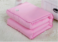 Wholesale Pure color multifunction pillow or cushion creative automobile dual purpose pillow cushion for leaning on the quilt