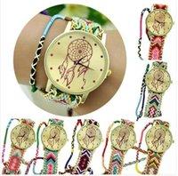 Wholesale 2015 relogio feminino relojes mujer Newest Girls Bracelet Watch Women Dream Catcher Braid Watches Wristwatches CPA309