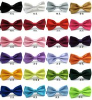 Wholesale 2015 freeshipping many Colors Fashion Men s bow tie men dot bowtie male marriage Bowtie For Men candy color cravat tie Butterfly