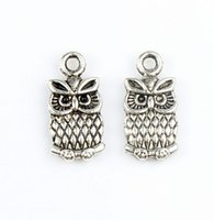 Charms antique owl necklace - MIC New x15mm Antique Silver Cute Small Owl Charms Pendants Fashion Jewelry DIY Fit Bracelets Necklace Earrings L987