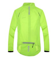 Wholesale ycling Jackets SANTIC Cycling windproof jacket Sports Men Women Wear Riding Breathable Reflective Jersey Cycle Clothing Long Sleeve Coat