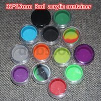 acrylic cosmetic jars - 3ml non stick acrylic with silicone wax container food grade acrylic jar silicone container for oil or cosmetic