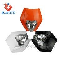 motorcycle headlamp - 1 Piece Motorcycle Headlight White Fairing Off Road Headlamp for KTM SX EXC XCF SXF Streetfighter zjmoto