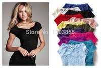 Cheap New Top cute Sexy Floral Full Lace Short Sleeve Tee Shirt Stretch Scoopneck Blouse W