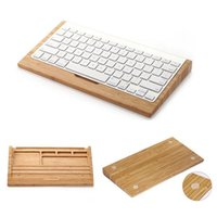 bamboo bluetooth keyboard - Fashion Bluetooth Keyboard Hoder For Apple iMac PC Computer Bamboo Keyboard Stand Original Samdi Wood Bluetooth Keyboard Bracket