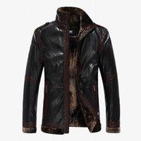 Wholesale Fall Design Men s Leather Brown Jacket Casual Mens Winter Korean Leather jackets Men Outdoor Coat for Men Jaqueta Masculina