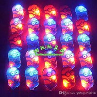 Wholesale 2015 New flash brooch luminous badge pin brooch Daddy bar supplies gift toys for children