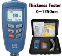 Wholesale 100 Original CEM DT Digital Coating Thickness Tester um Built in Auto F NF Probe with Retail Package