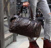 leather weekend bags - Men large Leather waterproof High quality designer handbags brand shoulder road weekend trip men s travel bags
