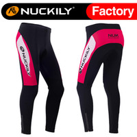 Wholesale Nuckily New arrival women winter warmer fleece bicycle tights best quality ladies thermal fleece cycling long pants GF007