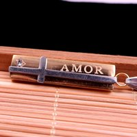 amor plates - AMOR Gold plated stainless steel fashion charm necklace pendant God of love