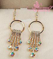 Wholesale diamond colorful drops cirlce lady s earings mm nnsssp