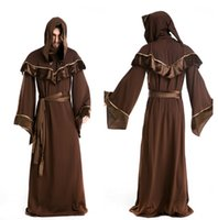 indian clothes - Halloween Mens clothing uniforms Gothic shaman priests European religious male role play clothes cosplay