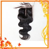 Cheap Grade 6A free, middle, three, part virgin indian hair lace closure body wave bleached knots free shipping,can be dyed no shedding
