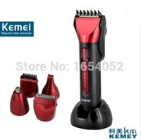 Wholesale Rechargeable Hair Beard Clipper kit in Hair Clipper Rechargeable Hair Trimmer Shaver Razor Waterproof Cordless Adjustable Clipper DHL