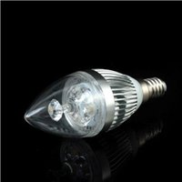 ac fridge - AC V V High Quality LM W LED Candle Bulb chandelier light Cool White for Fridge E12 E14 Phlips LED mil