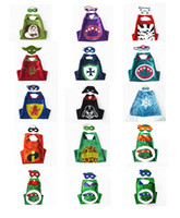 Wholesale double layer capes with mask Star Wars Prince and Princess TMNT Ninja Turle Halloween Christmas Party Costumes for Kids Children s Costume