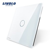 Wholesale Livolo Luxury White Pearl Crystal Glass mm mm EU standard Single Glass Panel For Gang Wall Touch Switch VL C7 C1