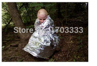 Wholesale AQ01 Outdoor waterproof Emergency Survival Foil Thermal First Aid Rescue Blanket mm x mm