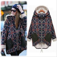 b designs thermal - Europe and the new autumn and winter long section of thick cotton women s m word pattern large code plus cashmere thermal jacket coat B