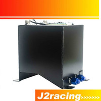 Wholesale J2 RACING STORE BLACK L Aluminium Fuel Surge tank Fuel cell with sensor foam inside PQY TK38BK